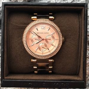 Michael Kors Rose Gold & Tortoise Women's Watch